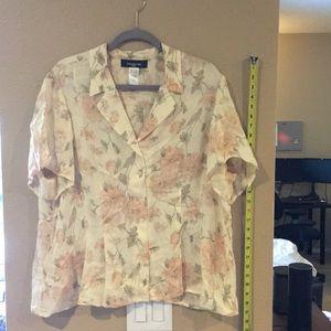 Jones New York Woman short sleeve blouse 18w